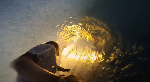 Surfer using the GoPro: HERO3+ Black Edition
