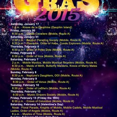 The 2015 Mardi Gras Parade Schedule